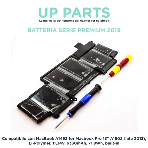 Batteria notebook APPLE 020-8146, A1493, 020-8148,