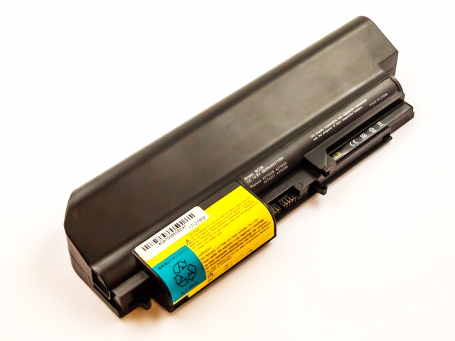 Batteria IBM/LENOVO ThinkPad R400 series, Li-ion, 10,8V, 6600mAh, 71,3Wh, black