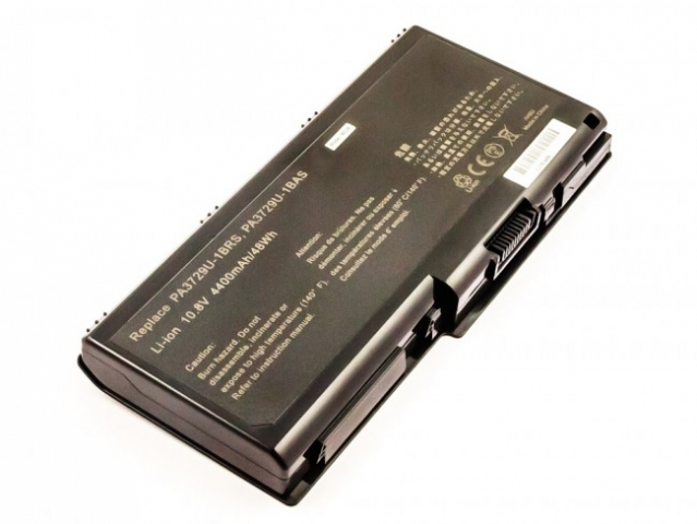 Batteria compatibile TOSHIBA Satellite  P500, P505 series, Li-ion, 10,8V, 4400mAh, 47,5Wh, black