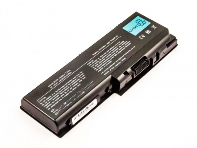 Batteria compatibile TOSHIBA Satellite P200 series, Li-ion, 10,8V, 4400mAh, 47,5Wh, black