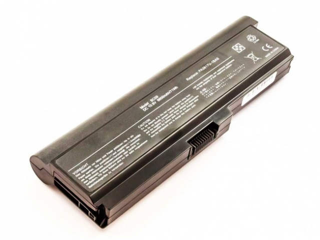 Batteria compatibile TOSHIBA Satellite L750, Li-ion, 10,8V, 6600mAh, 71,3Wh, black