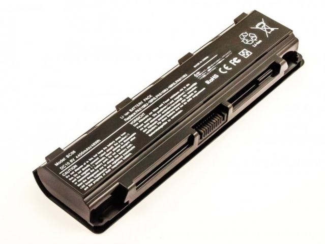 Batteria compatibile TOSHIBA Satellite C55, C70, Li-ion, 10,8V, 4400mAh, 47,5Wh, black