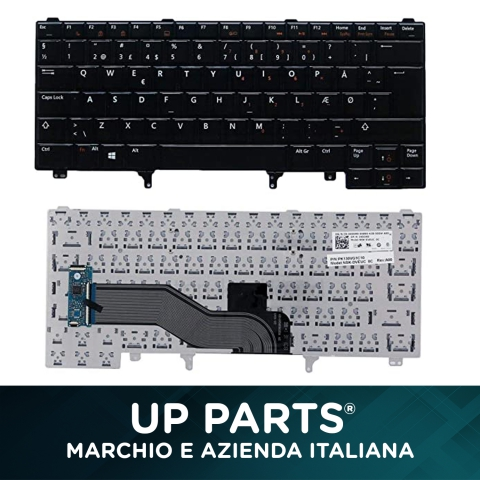 UP-KBD6440 | Tastiera Notebook DELL E5320 E5420 E5430 E5520 E6220 E6320 E6330 No retroilluminazione
