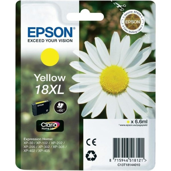 Cartuccia Originale EPSON C13T1814 XL YELLOW,