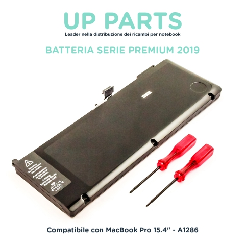 Batteria notebook APPLE A1286 Late 2011-MId 2012, Macbook Pro 15'' Early 2011, MC721LL/A,