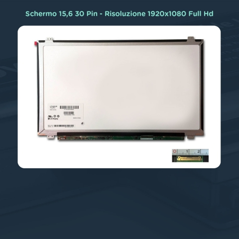 Schermo notebook 15.6 N156HGE-EAL compatibile con 5D10H15380,